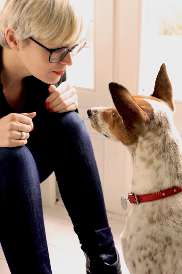 LYX-Autorin Kristina Günak und Herr Hund